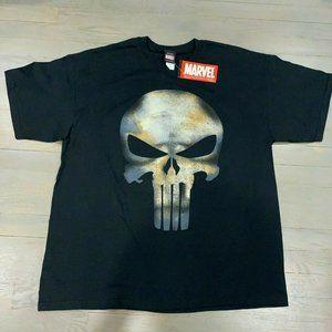 Marvel The Punisher No Sweat Grunge Black T-Shirt